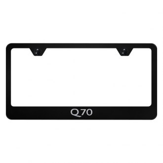 Autogold® - License Plate Frame with Laser Etched Q70 Logo