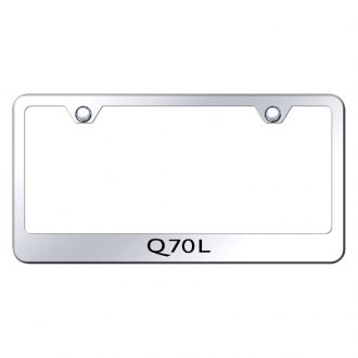 Autogold® - Chrome License Plate Frame with Laser Etched Q70L Logo