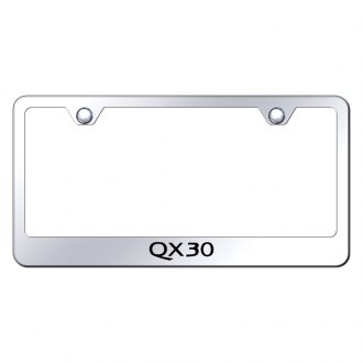 Autogold® - Chrome License Plate Frame with Laser Etched QX30 Logo
