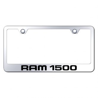 Autogold® - Chrome License Plate Frame with Laser Etched Ram 1500 Logo