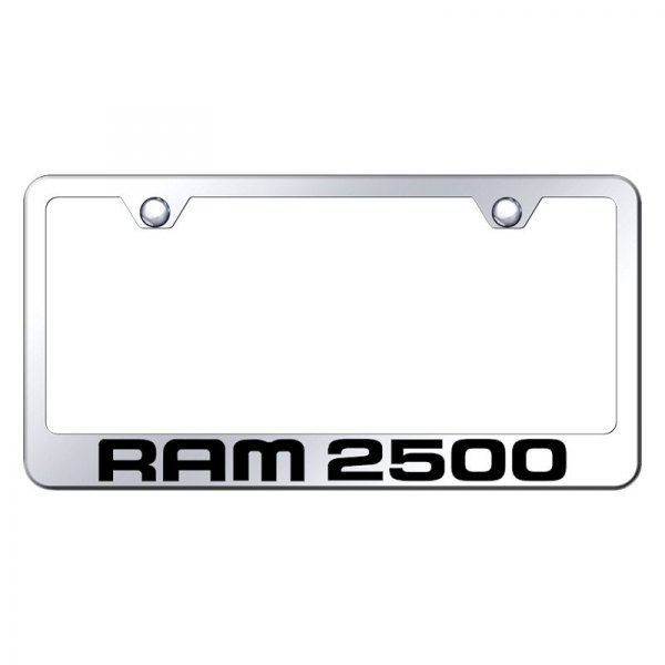 Autogold® - License Plate Frame with Laser Etched Ram 2500 Logo