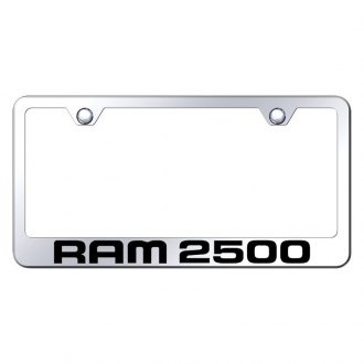 Autogold® - Chrome License Plate Frame with Laser Etched Ram 2500 Logo