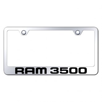 Autogold® - Chrome License Plate Frame with Laser Etched Ram 3500 Logo