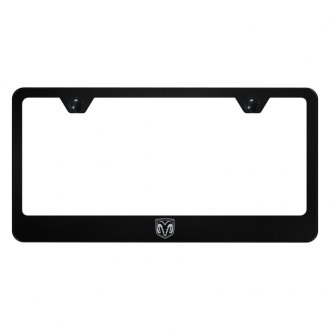 Autogold® - License Plate Frame with Laser Etched Ram Head Logo