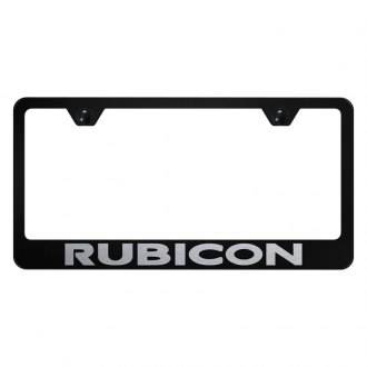 Autogold® - License Plate Frame with Laser Etched Rubicon Logo
