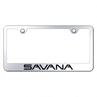 Autogold® - Chrome License Plate Frame with Laser Etched Savana Logo