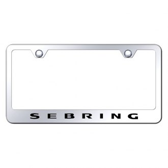 Autogold® - License Plate Frame with Laser Etched Sebring Logo