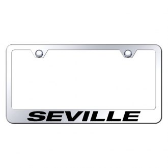Autogold® - Chrome License Plate Frame with Laser Etched Seville Logo