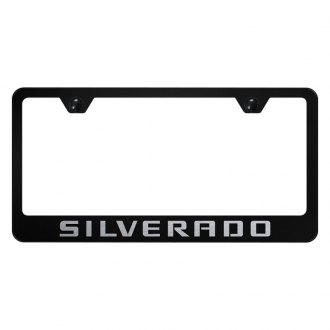 Autogold® - License Plate Frame with Laser Etched Silverado Logo
