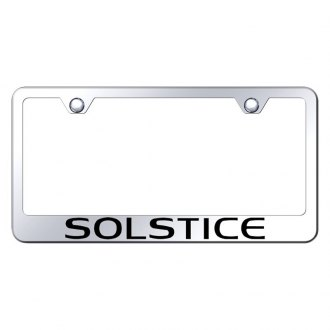 Autogold® - Chrome License Plate Frame with Laser Etched Solstice Logo