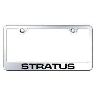 Autogold® - License Plate Frame with Laser Etched Stratus Logo