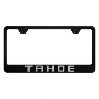Autogold® - License Plate Frame with Laser Etched Tahoe Logo