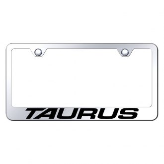 Autogold® - License Plate Frame with Laser Etched Taurus Logo