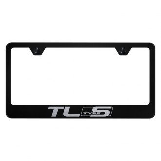 Autogold® - License Plate Frame with Laser Etched TL Type S Logo