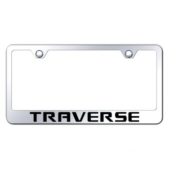 Autogold® - Chrome License Plate Frame with Laser Etched Traverse Logo