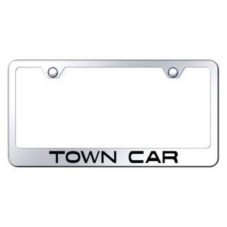 Autogold® - License Plate Frame with Laser Etched Town Car Logo