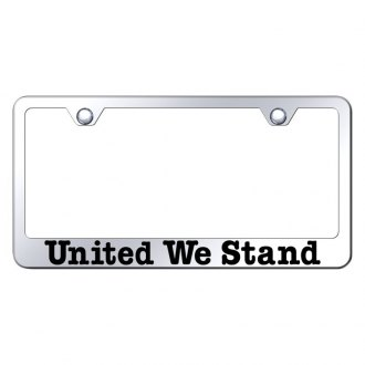Autogold® - Chrome License Plate Frame with Laser Etched United We Stand Logo