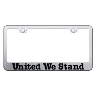 Autogold® - License Plate Frame with Laser Etched United We Stand Logo