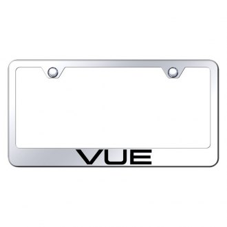 Autogold® - Chrome License Plate Frame with Laser Etched Vue Logo