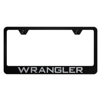 Autogold® - License Plate Frame with Laser Etched Wrangler Logo
