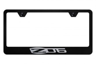 Autogold® - License Plate Frame with Laser Etched Corvette Z06 Logo