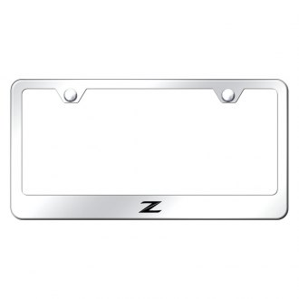 Autogold® - Chrome License Plate Frame with Laser Etched Z New Logo