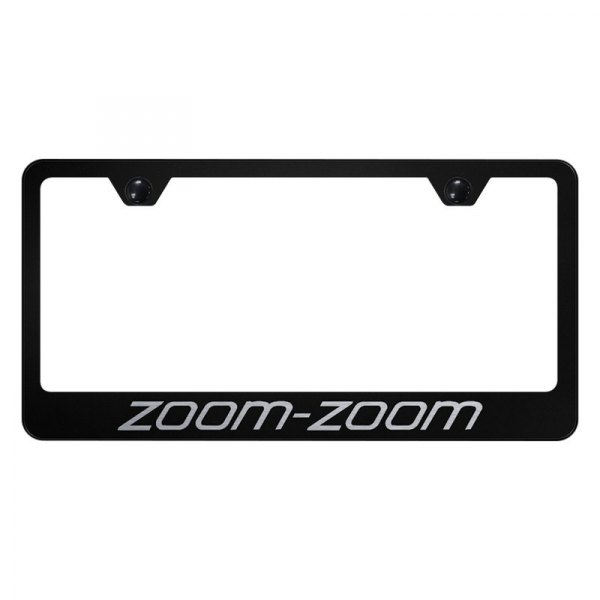 Autogold® - License Plate Frame with Laser Etched Zoom-Zoom Logo