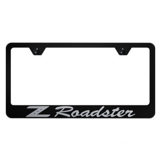 Autogold® - Black License Plate Frame with Laser Etched Z Roadster Logo