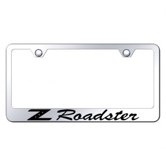 Autogold® - Chrome License Plate Frame with Laser Etched Z Roadster Logo