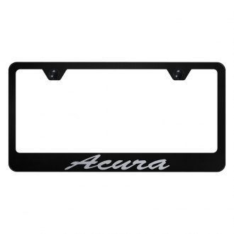 Autogold® - License Plate Frame with Script Laser Etched Acura Logo