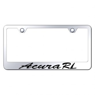 Autogold® - License Plate Frame with Script Laser Etched Acura RL Logo