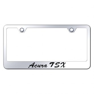 Autogold® - License Plate Frame with Script Laser Etched Acura TSX Logo