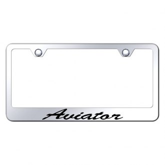 Autogold® - License Plate Frame with Script Laser Etched Aviator Logo