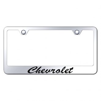 Autogold® - License Plate Frame with Script Laser Etched Chevrolet Logo