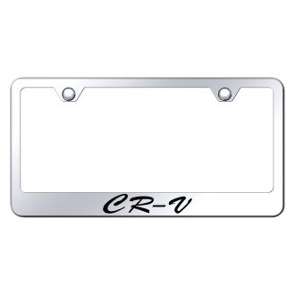 Autogold® - License Plate Frame with Script Laser Etched CR-V Logo