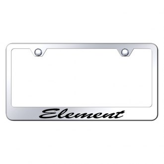 Autogold® - License Plate Frame with Script Laser Etched Element Logo