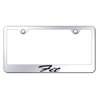 Autogold® - Chrome License Plate Frame with Script Laser Etched Fit Logo