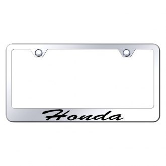 Autogold® - License Plate Frame with Script Laser Etched Honda Logo