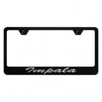 Autogold® - License Plate Frame with Script Laser Etched Impala Logo