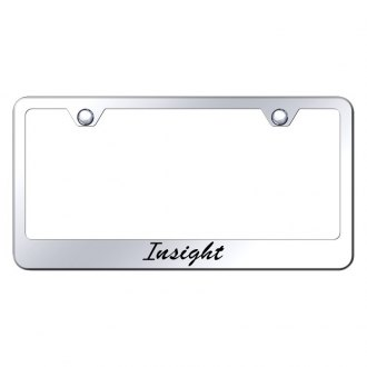 Autogold® - Chrome License Plate Frame with Script Laser Etched Insight Logo