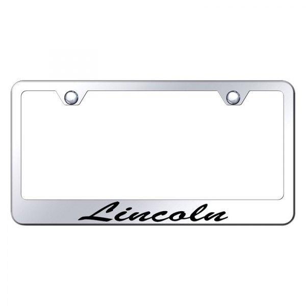 Autogold® LFS.LIN.EC - Chrome License Plate Frame with Script Laser ...
