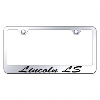 Autogold® - License Plate Frame with Script Laser Etched Lincoln LS Logo