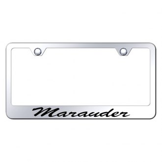 Autogold® - Chrome License Plate Frame with Script Laser Etched Marauder Logo