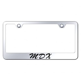 Autogold® - License Plate Frame with Script Laser Etched MDX Logo