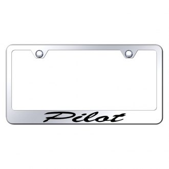 Autogold® - License Plate Frame with Script Laser Etched Pilot Logo