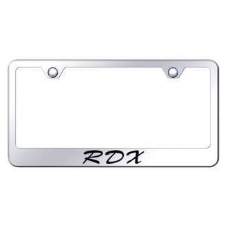 Autogold® - Chrome License Plate Frame with Script Laser Etched RDX Logo