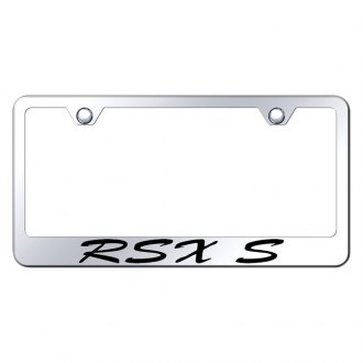 Autogold® - Chrome License Plate Frame with Script Laser Etched RSX-S Logo