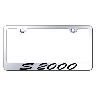 Autogold® - Chrome License Plate Frame with Script Laser Etched S2000 Logo