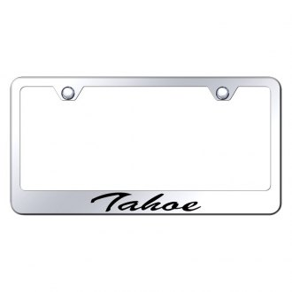 Autogold® - Chrome License Plate Frame with Script Laser Etched Tahoe Logo
