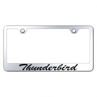 Autogold® - License Plate Frame with Script Laser Etched Thunderbird Logo